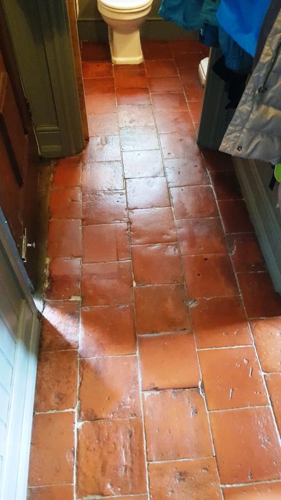Pamment Tiled Floor After Restoration in Silkstone