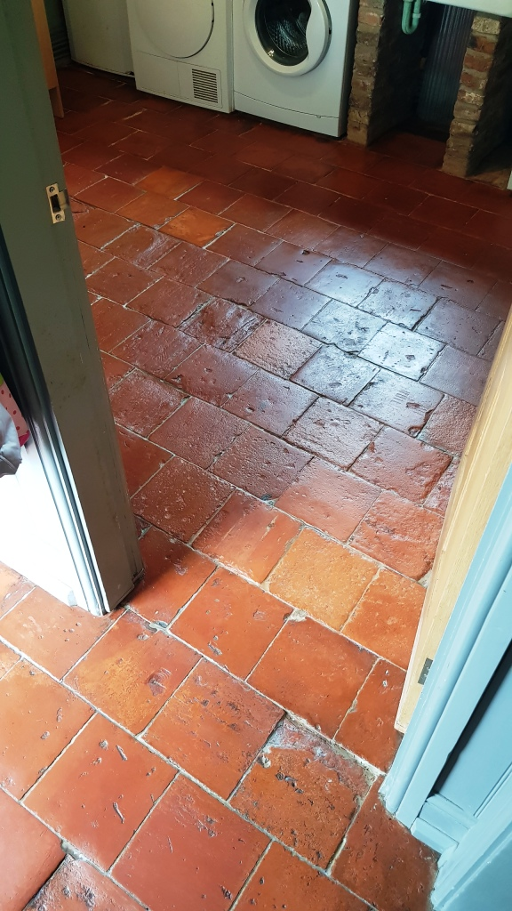 Pamment Tiled Floor After Restoration in Silkstone