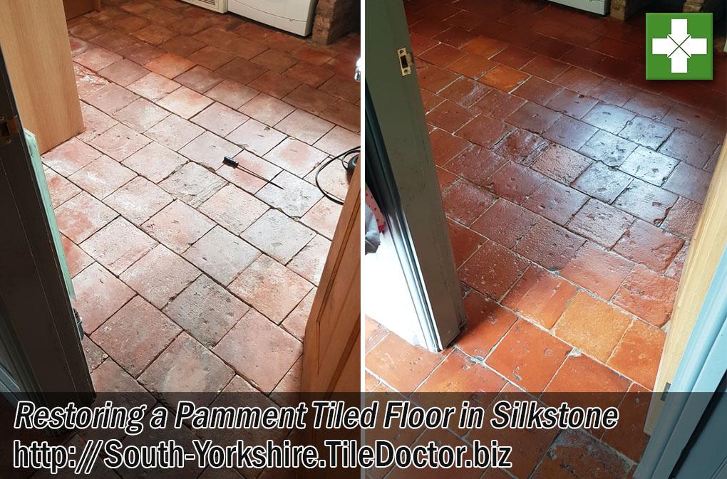 Restoring Pamment Tiled Floor in Silkstone