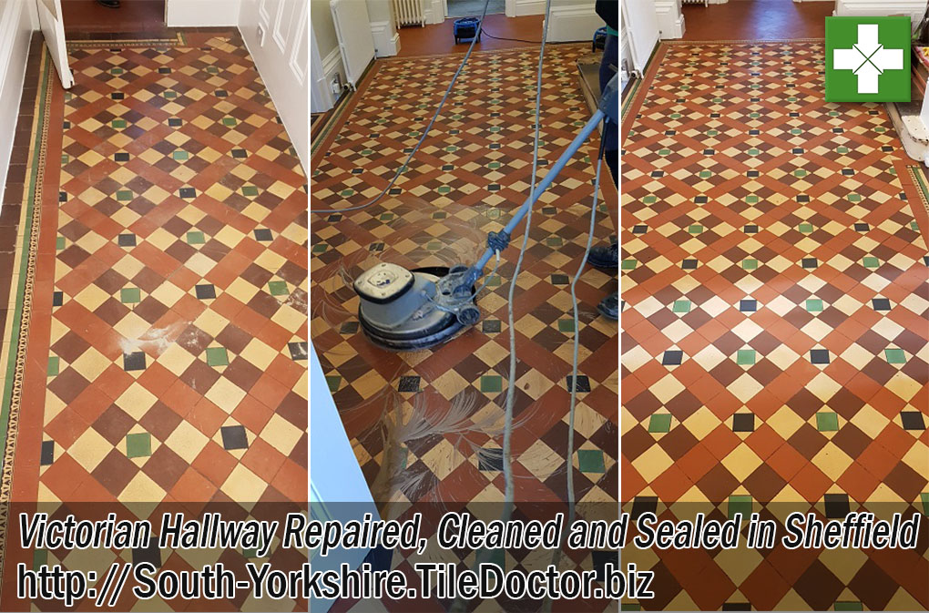 Victorian Hallway Before and After Renovation Sheffield
