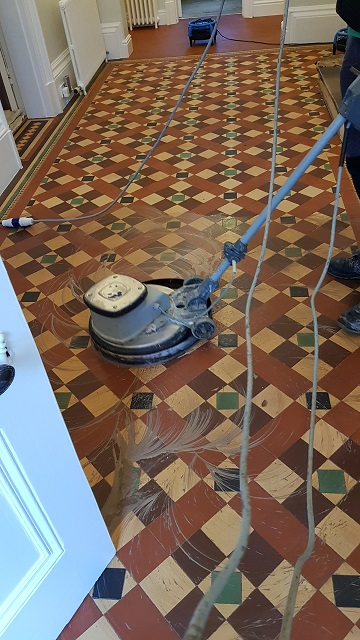 Victorian Hallway During Cleaning Sheffield