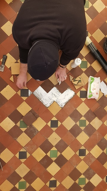 Victorian Hallway During Tile Repair Sheffield
