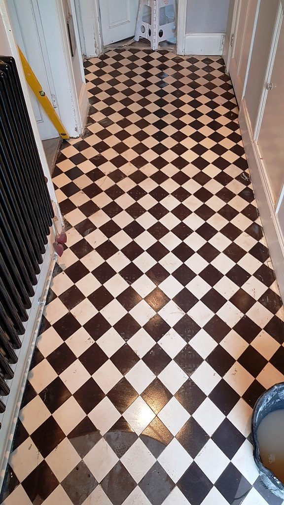 Victorian Tiled Hallway After Cleaning Rotherham