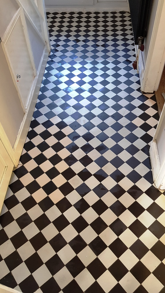 Victorian Tiled Hallway After Restoration Rotherham
