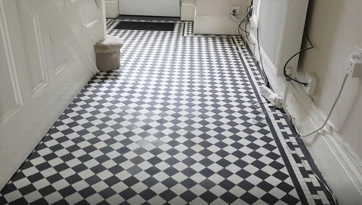Edwardian Hallway Floor After Sealing in Wombwell