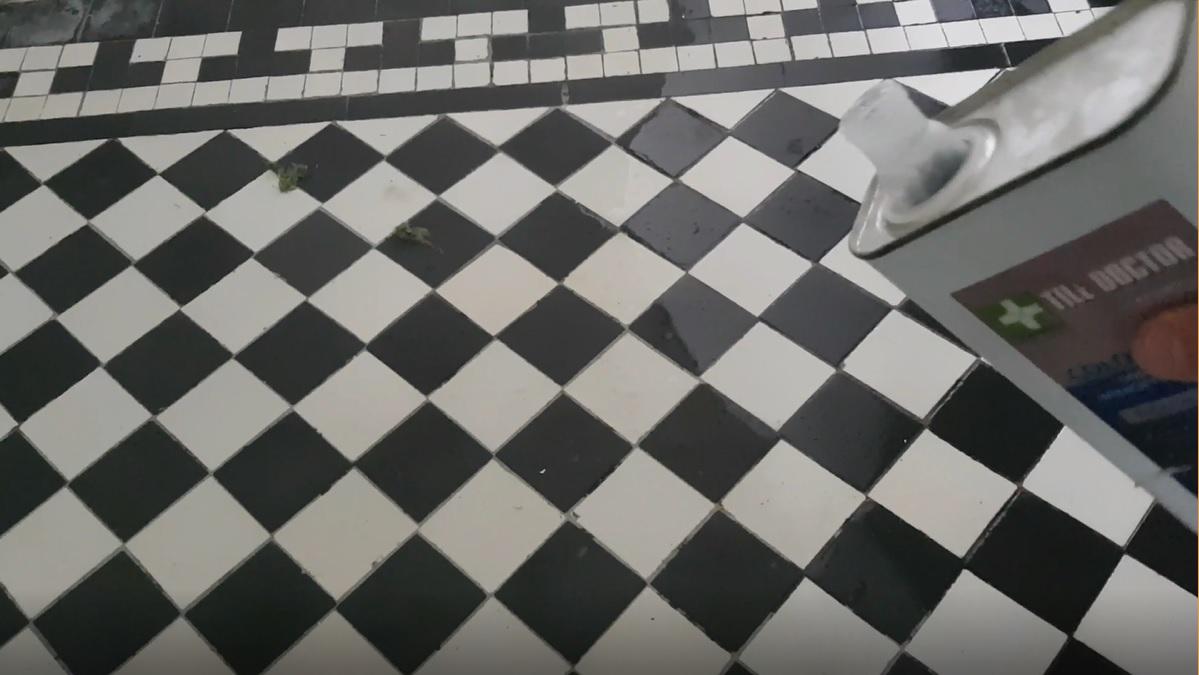 Edwardian Hallway Floor During Sealing in Wombwell