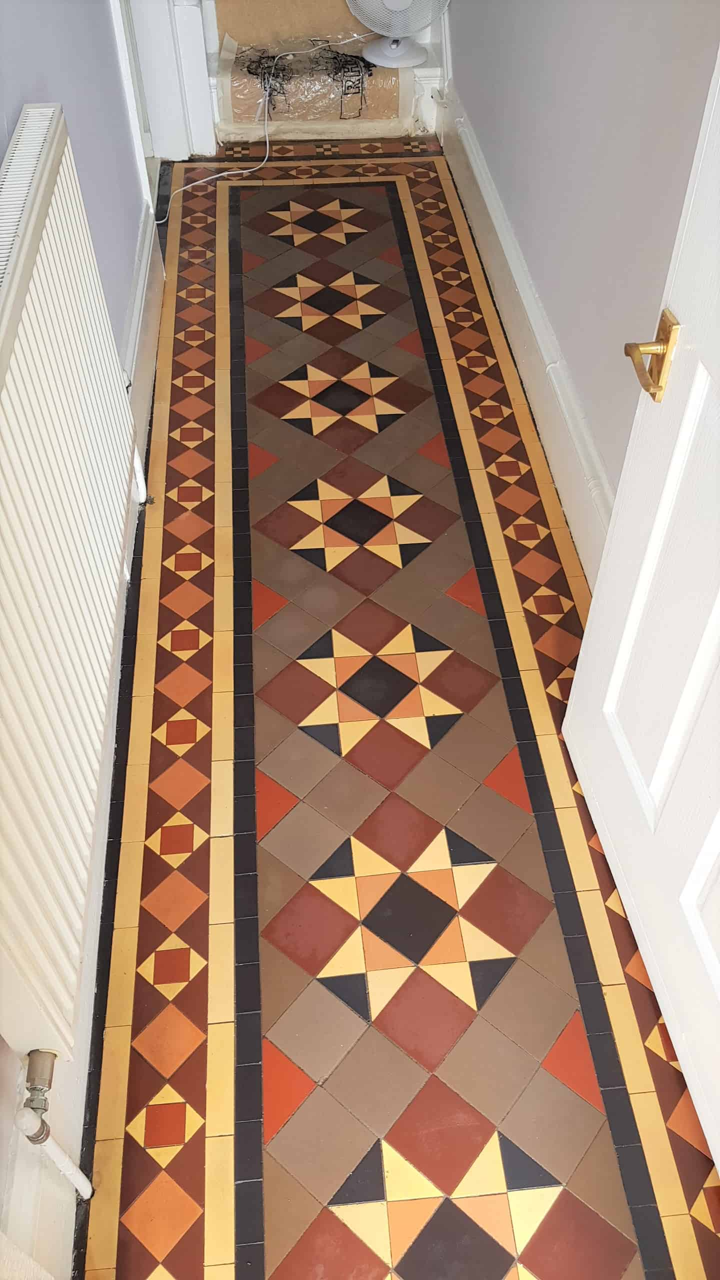 Victorian Tiled Hallway After Cleaning Doncaster