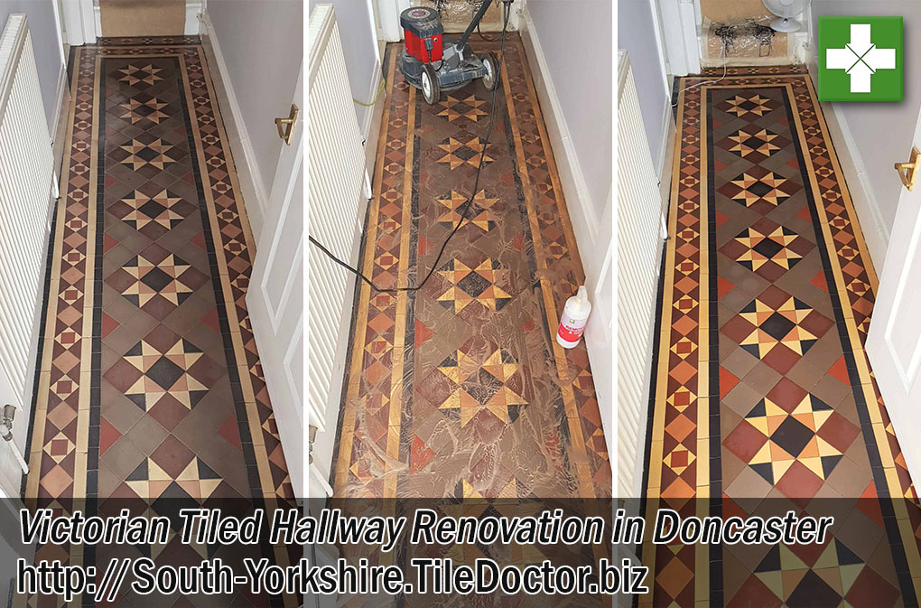 Victorian Tiled Hallway Before After Renovation Doncaster