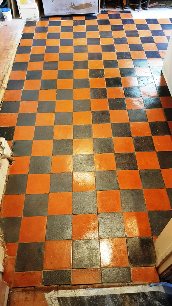 Quarry Tiled Floor Sheffield After Restoration