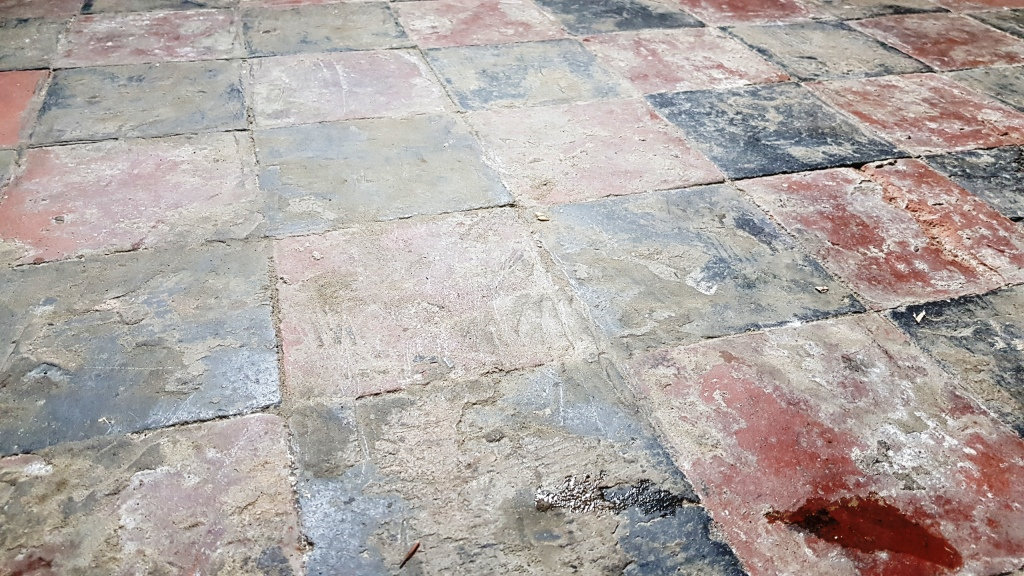 Quarry Tiled Floor Sheffield Before Restoration
