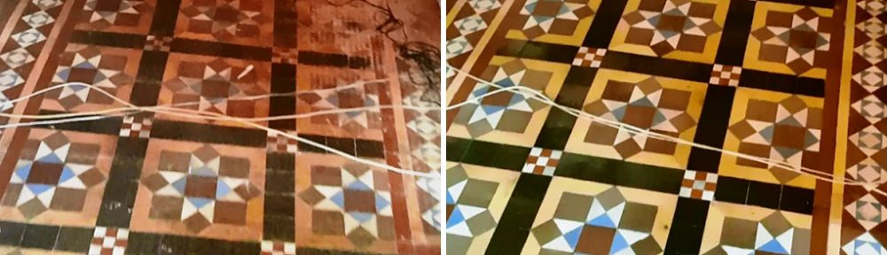 Restoring a Damaged Victorian Tiled Hallway Floor in Sheffield