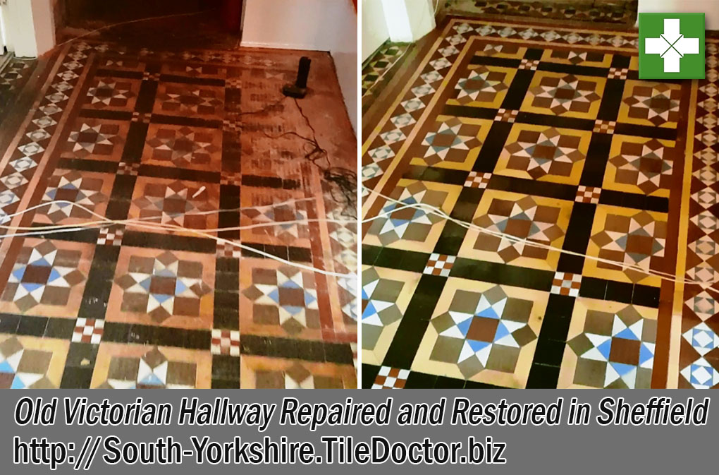 Old Victorian Floor Before After Restoration Sheffield