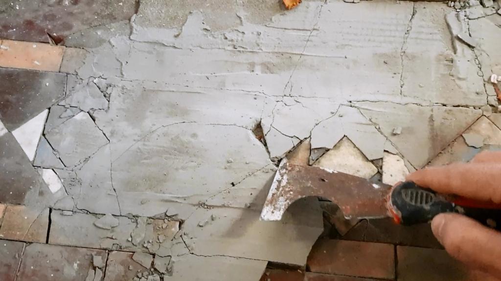 Victorian Floor Restoration Sheffield Chipping Away Self=Leveller Compound