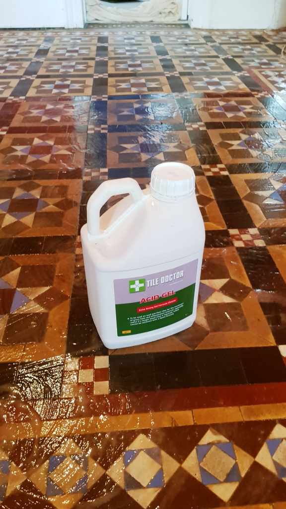 Victorian Floor Restoration Sheffield Cleaning with Acid Gel