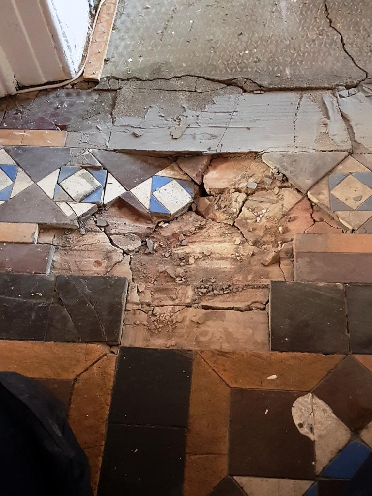 Victorian Floor Restoration Sheffield During Repair