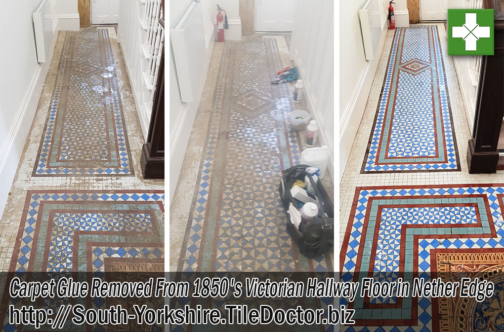 Victorian Floor Before After Cleaning Nether Edge Sheffield