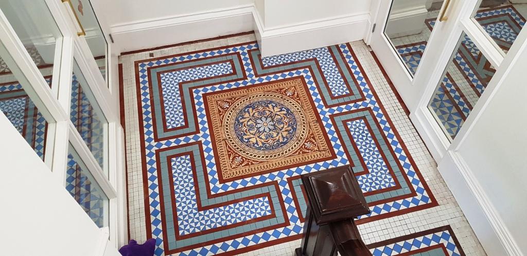 Victorian Tiled Hallway After Restoration Brincliffe House Nether Edge