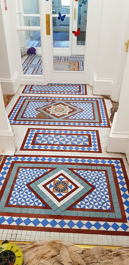 Victorian Tiled Hallway After Restoration Brincliffe House Nether Edge