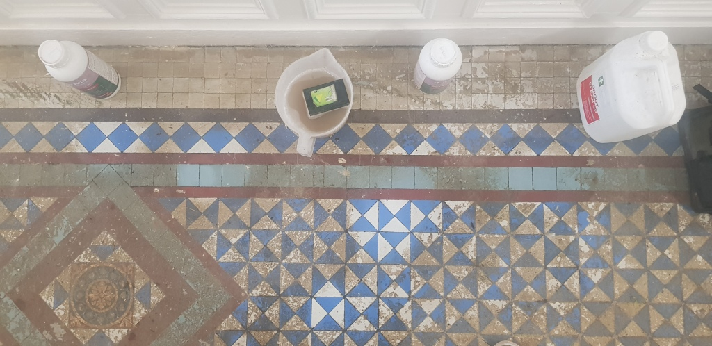 Victorian Tiled Hallway Before Restoration Brincliffe House Nether Edge