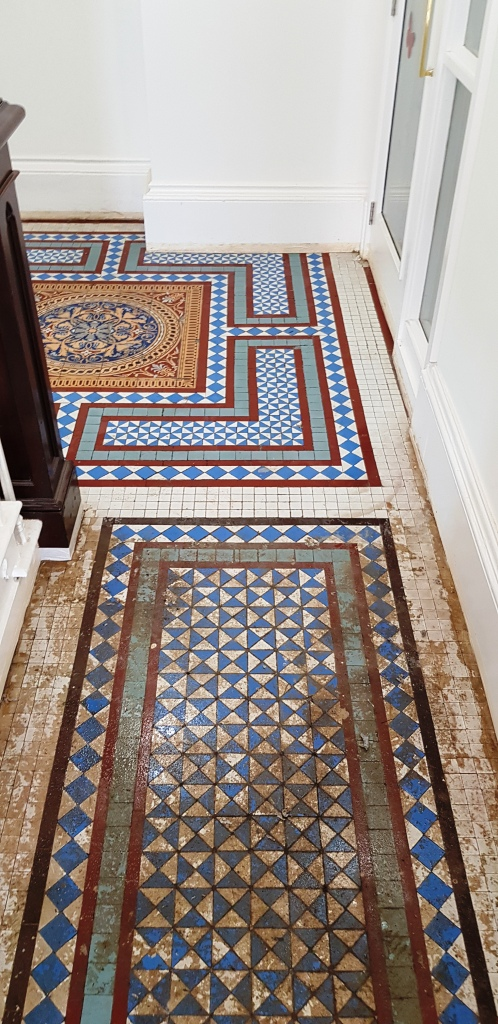 Victorian Tiled Hallway During Restoration Brincliffe House Nether Edge