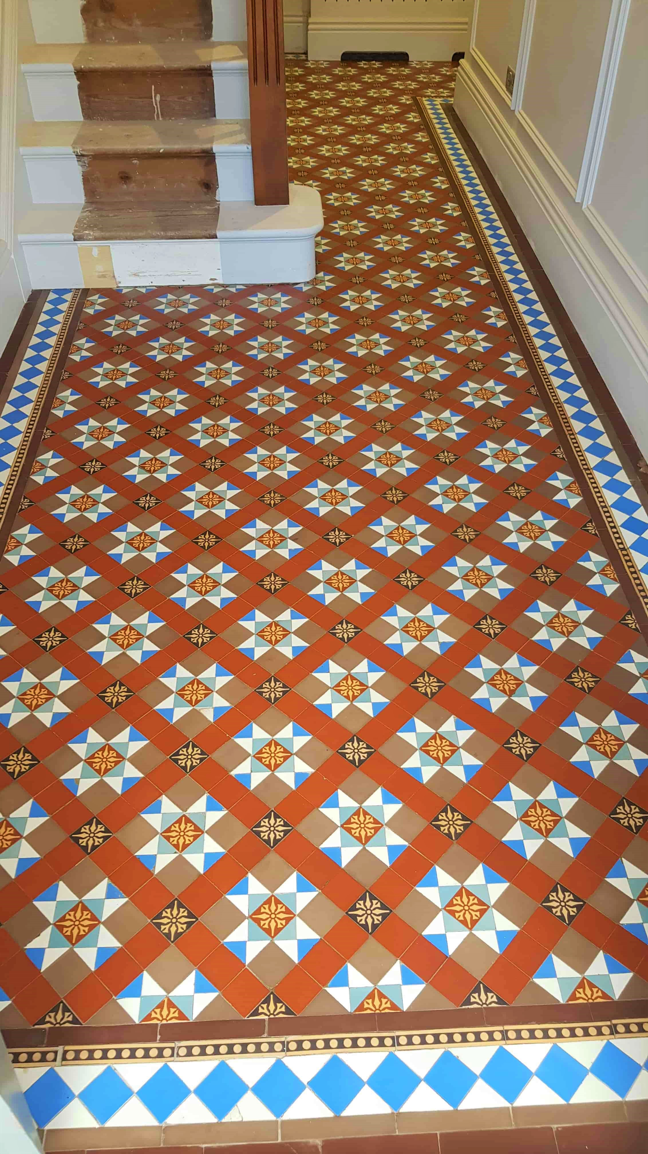 Victorian Hallway Tiles After Renovation Doncaster