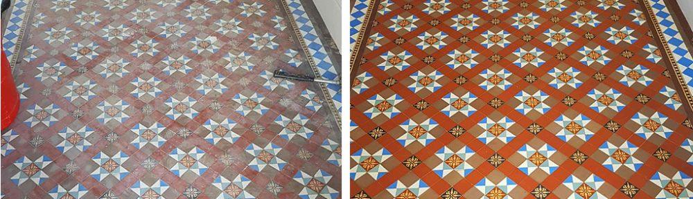 Restoring Victorian Hallway Tiles in Doncaster
