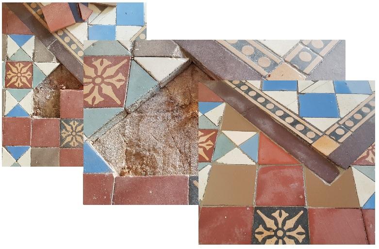 Victorian Tiled Hallway Floor Repair Doncaster