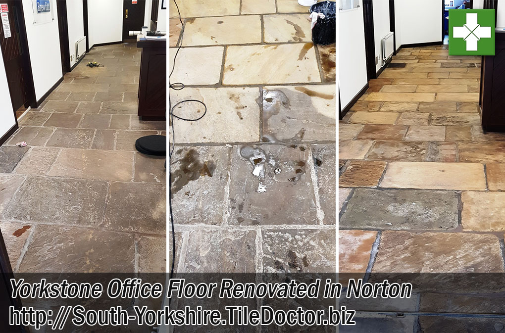 Deep Cleaning and Sealing Yorkstone Flooring in Norton