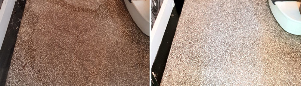 Deep Cleaning and Polishing a Terrazzo Hallway Floor in Doncaster