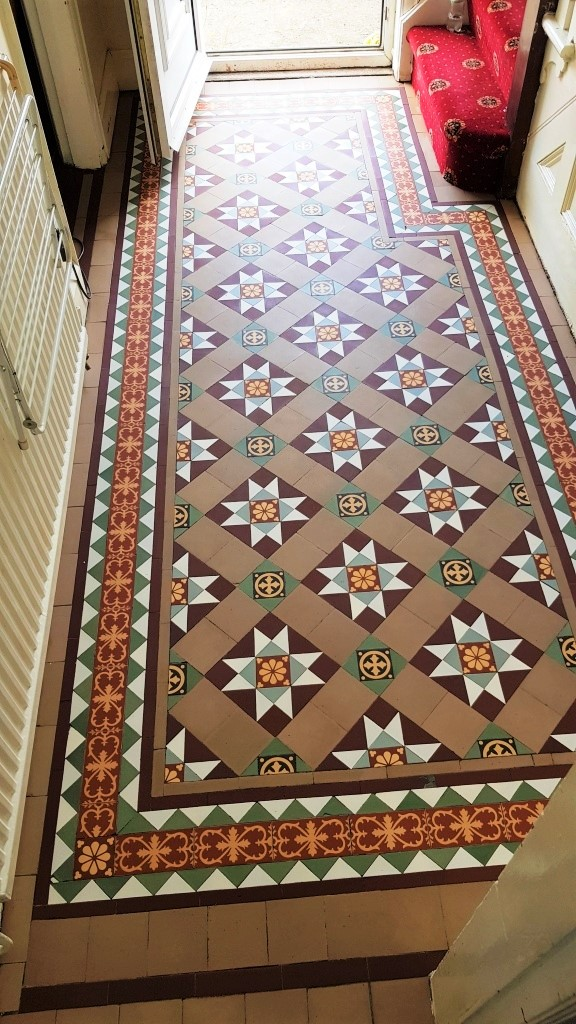 Victorian Tiled Floor After Cleaning Sealing Dinnington