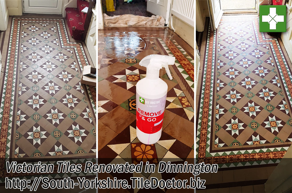 Victorian Tiled Hallway Before After Renovation Dinnington