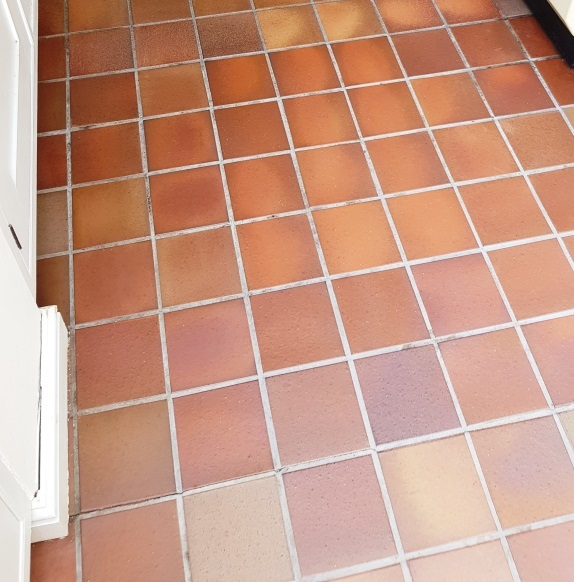Quarry Tiled Kitchen Floor After Cleaning