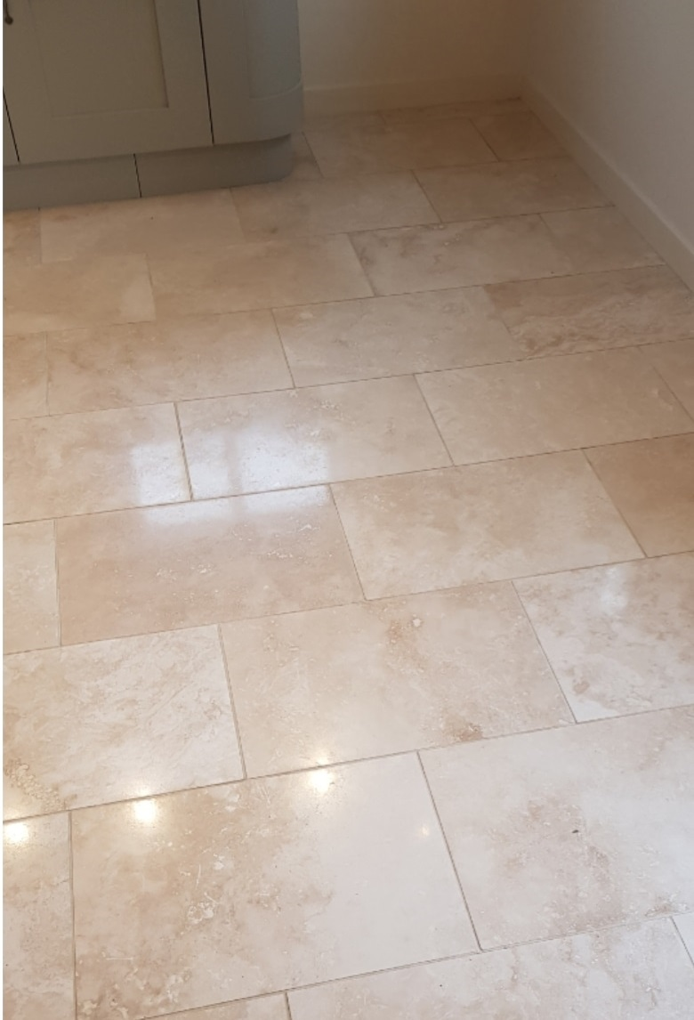 Travertine Floor After Renovation Stocksbridge
