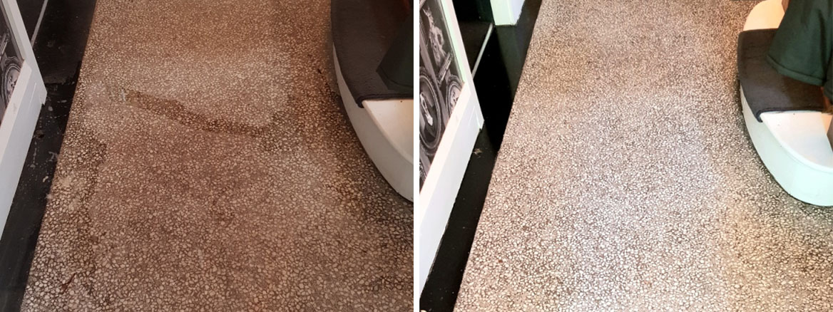 Terrazzo-Hallway-Floor-Before-After-Cleaning-Doncaster