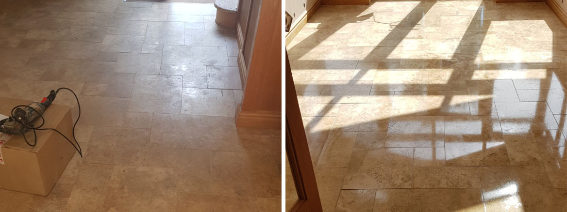 Travertine-Tiled-Floor-Before-After-Polishing-in-Whirlow-Sheffield
