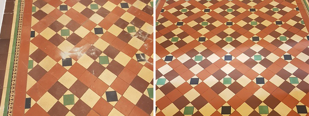 Renovating a Victorian Vicarage Hallway Tiles in Sheffield