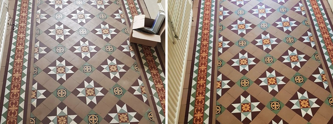 Victorian-Tiled-Floor-Before-After-Cleaning-Dinnington