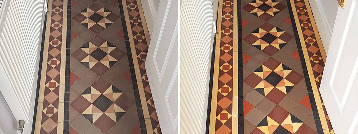 Victorian-Tiled-Hallway-Before-After-Cleaning-Doncaster