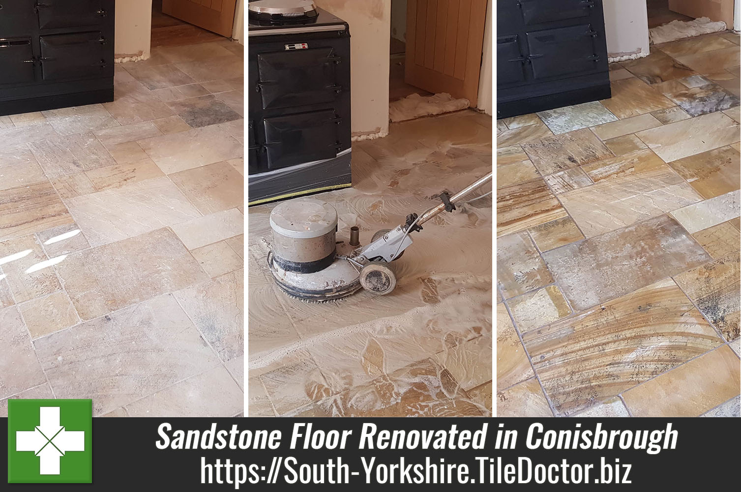 Sandstone floor clean and seal in Conisbrough, Doncaster