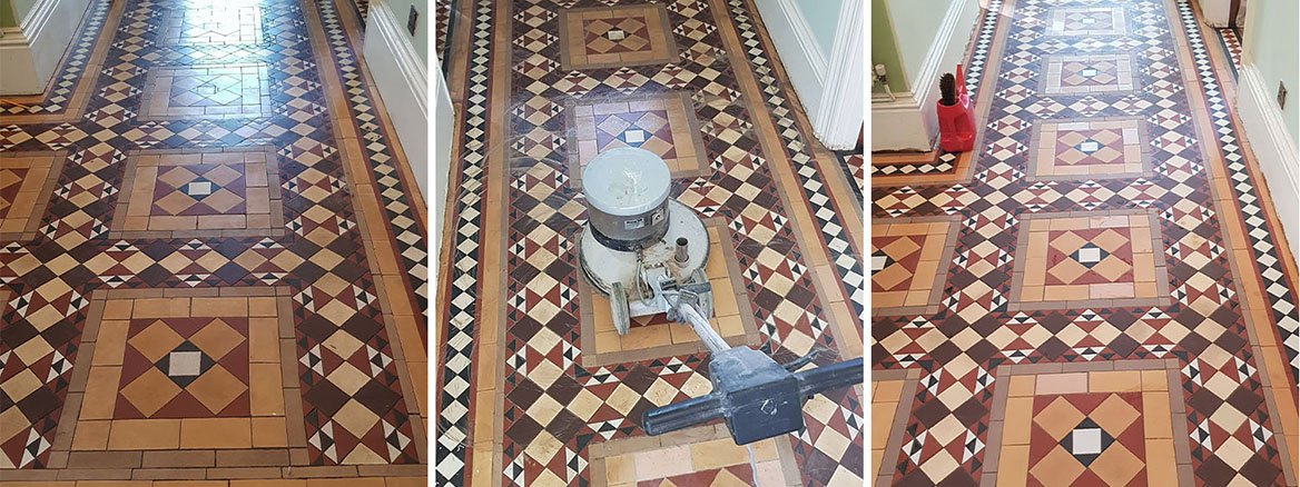 Victorian Hallway Tiles Restored in Doncaster