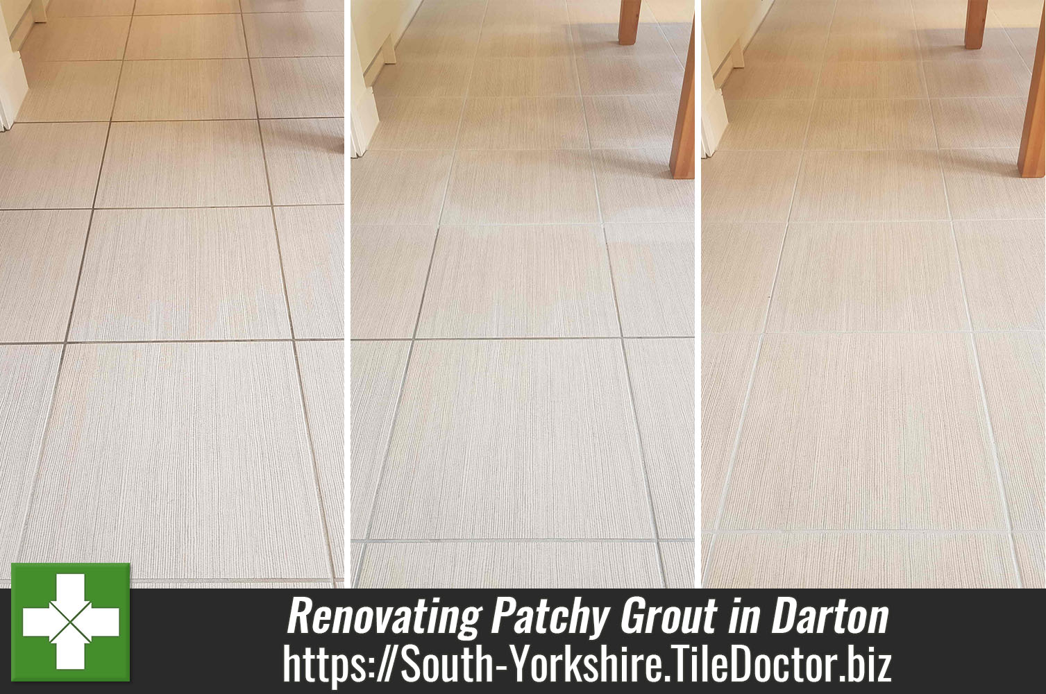 Patchy Grout on Porcelain Floor Restored in Darton New Build