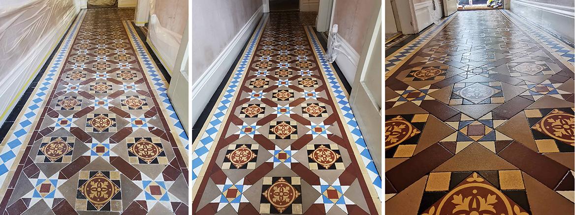 Old Victorian Hallway Floor Restored in Barnsley