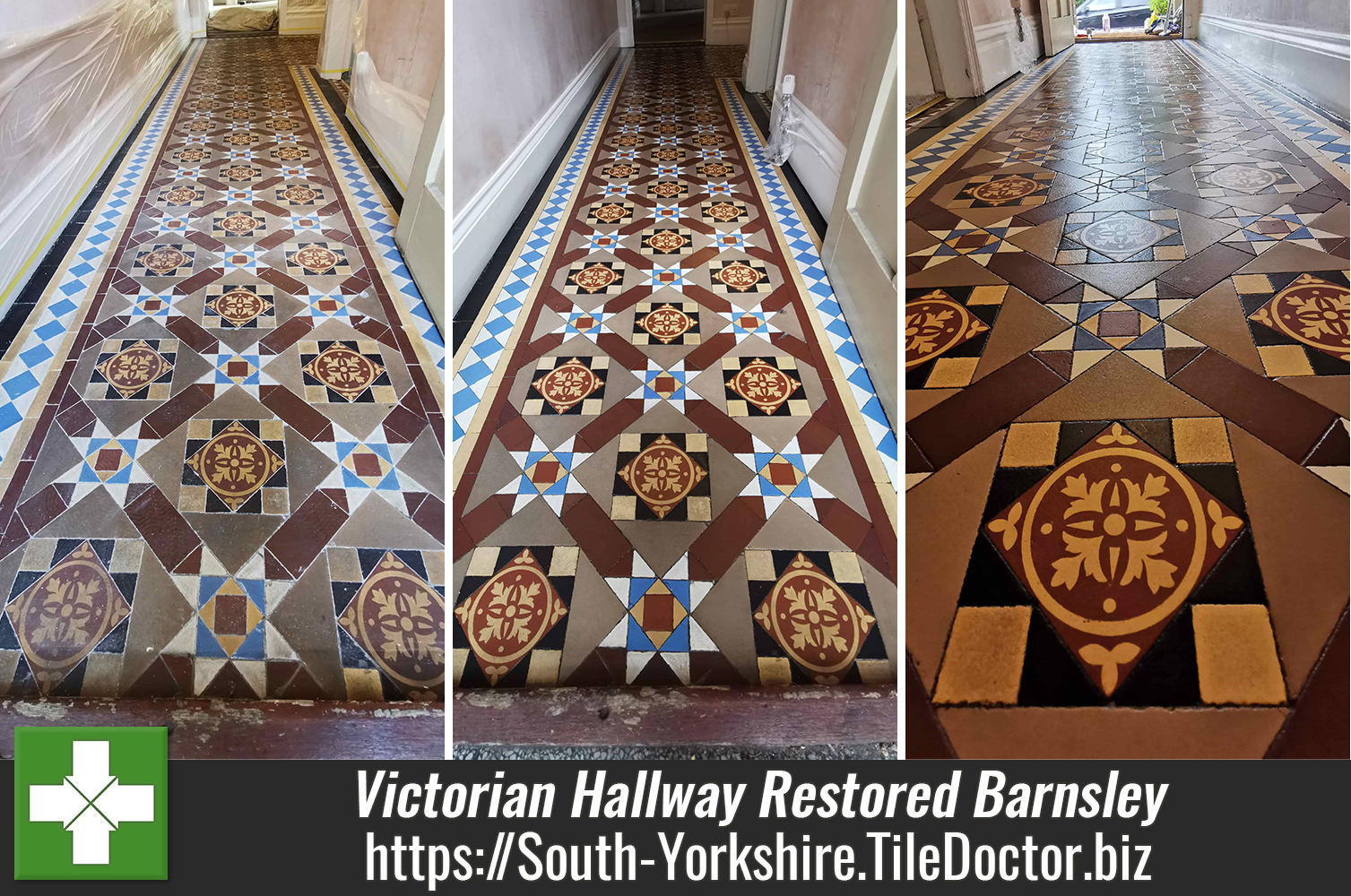 Unloved Victorian Hallway Floor Renovation in Barnsley
