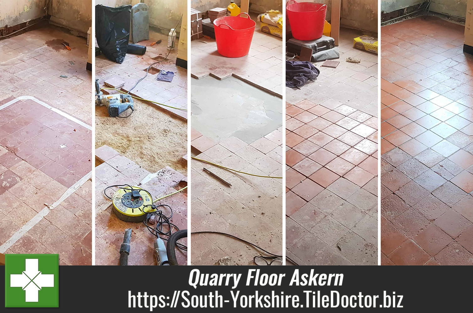 Full Restoration of a 150-Year-old Clay Quarry Tiled Floor in Askern