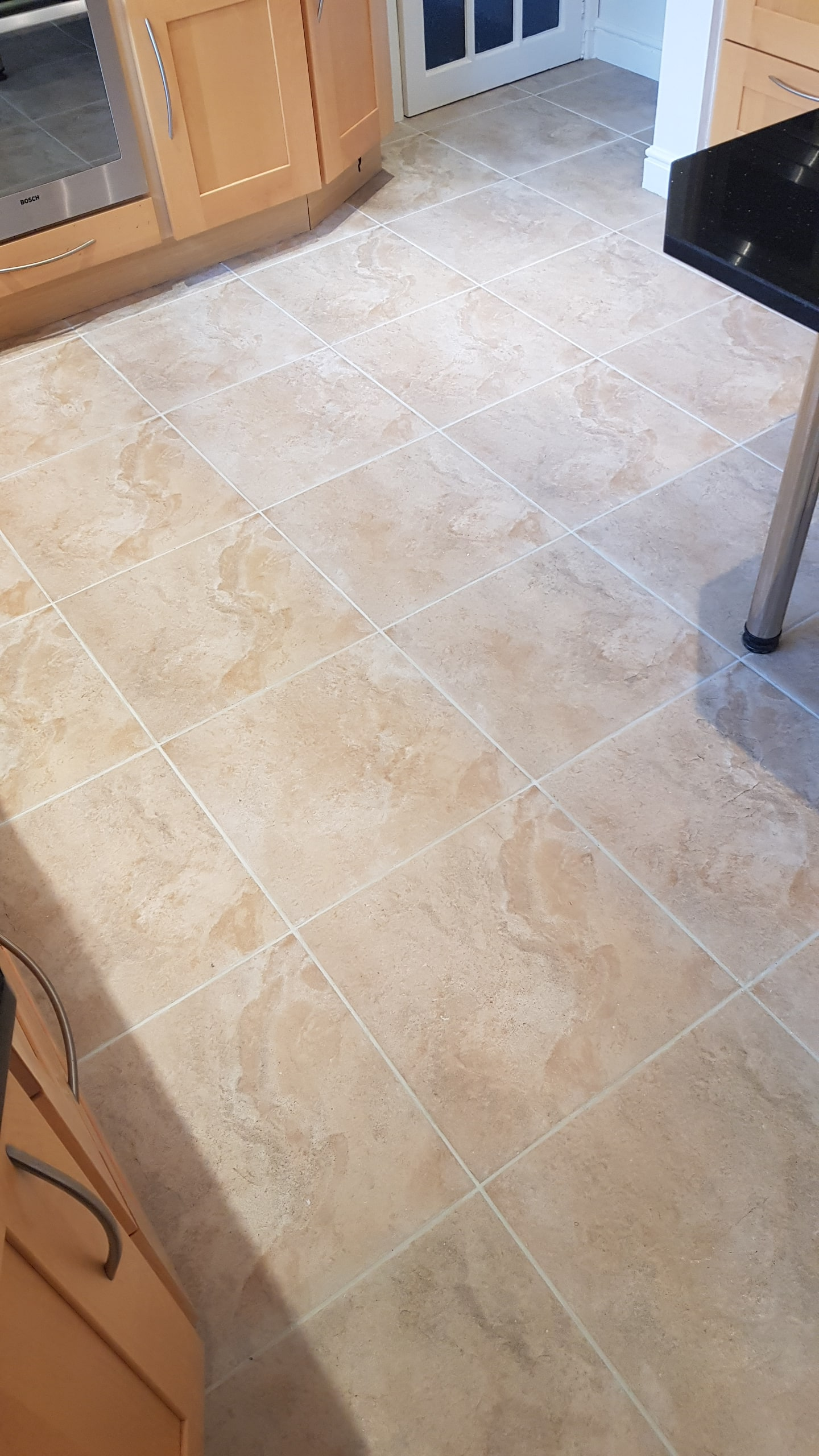 Ceramic Tiled Floor After Grout ReColour Wickersley Rotherham