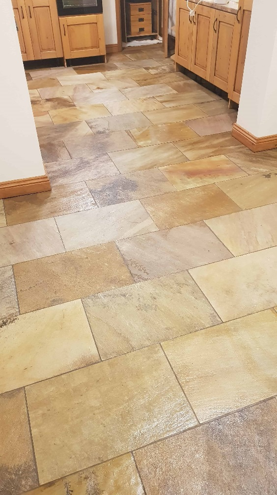 Modern Sandstone Floor After Cleaning Sealing High Green Sheffield