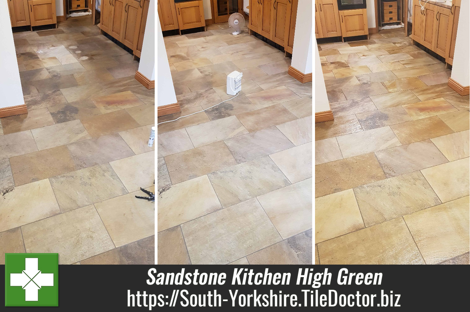 Modern Sandstone Floor Deep Cleaned and Sealed in High Green, Sheffield