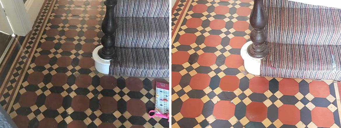 Victorian Hallway Floor Restoration in Wheatley Hills