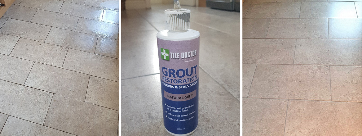 Cleaning and Colouring Kitchen Floor Grout in Adwick le Street