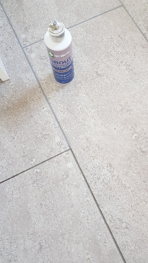 Grout During Colouring with Natural Grey Grout Colourant in Adwick le Street